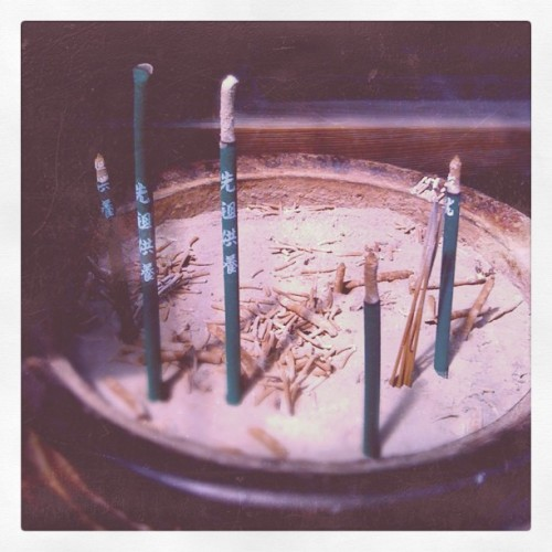 Lighting a pray for my ancestors. (Taken with Instagram at 奈良 Nara, Japan)