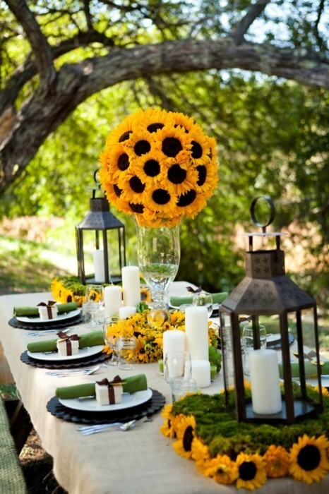 Sunflowers are not my thing, but this is a very cute way of doing them