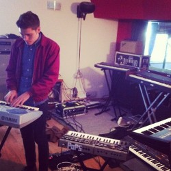 Recording synthesizers ! (Pris avec Instagram)