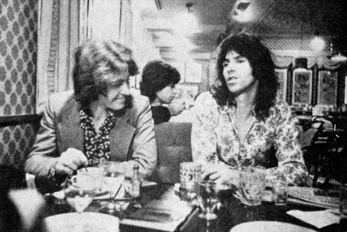 sistermorphinelovescookies:  Mick Taylor and Keith Richards, early 70s.