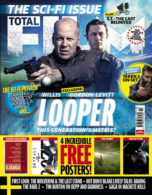 The new issue of Total Film magazine is on sale today, in print and on iPad Total Film's Sci-Fi Issue kicks off with Looper, starring Bruce Willis and Joseph Gordon-Levitt. Take a look inside the issue…