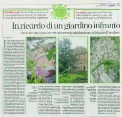 "This is it. Probably the last article about Galeazza Garden. It was written by Italy's most famous landscape architect and garden designer, Paolo Pejrone, and it's definitely as good as I can do as a self-invented gardener. Time to sign off and move on, leaving the garden and this blog behind. Time to write ""Als Ich Can"" (As I can) as Jan van Eyck did on his tiny self portrait of 1433, now in the National Gallery of London. I love that phrase, even if the pun doesn't work because I'm not named Eyck, the idea that this simple three word expression could be either a proud declaration (look: this is my best) or incredible modesty (sorry: this is all I can do). Or both. Als Ich Can. As I can. Well, that's for sure, because now there is a third and very sad element to my story: I cannot enter the garden anymore. The owners have locked me out. Als Ich Can. I've done all I could. I leave you not with a garden image, but one of my favourite paintings. http://www.nationalgallery.org.uk/paintings/jan-van-eyck-portrait-of-a-man-self-portrait"