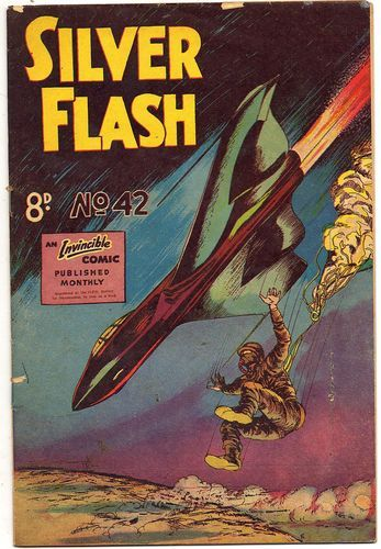 Virgil Reilly's Silver Flash #42 courtesy The Adelaide Comics Centre.