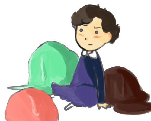 thebritishteapot:  Today's silly headcanon: Sherlock used to love ice creams 'cause he thought they were spelled ICE-CRIMES
