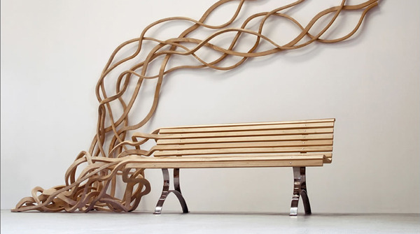 goodwoodwould:  Good wood - spagetti bench by Pablo Reinoso