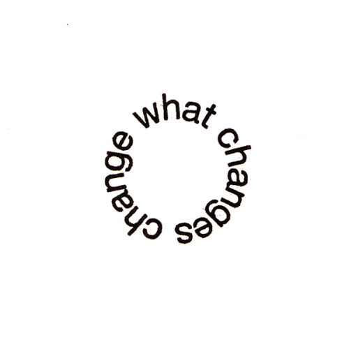 "visual-poetry:  circular poem by alec finlay (from the book ""change what changes"")"