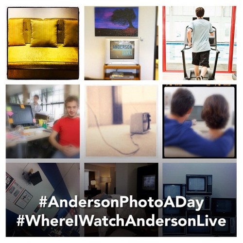 "Today is the last day of the ""Anderson Photo-a-Day"" challenge! The challenge today is #WhereIWatchAndersonLive. Submit your photo and you could win a new Samsung Galaxy S II phone! (Taken with Instagram) How to play. Are you following ""Anderson Live"" on Instagram? Download the free app, search for ""Anderson Live"" and follow us!"