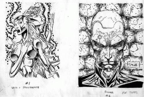 WildC.A.T.s trading card original art