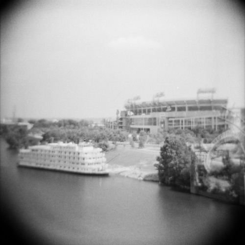 Nashville {Diana F+ and Ilford Delta 3200 film}