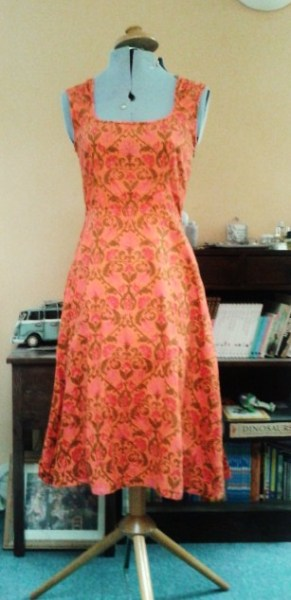 Dress, handmade, own pattern. In fact, the first dress I ever made.