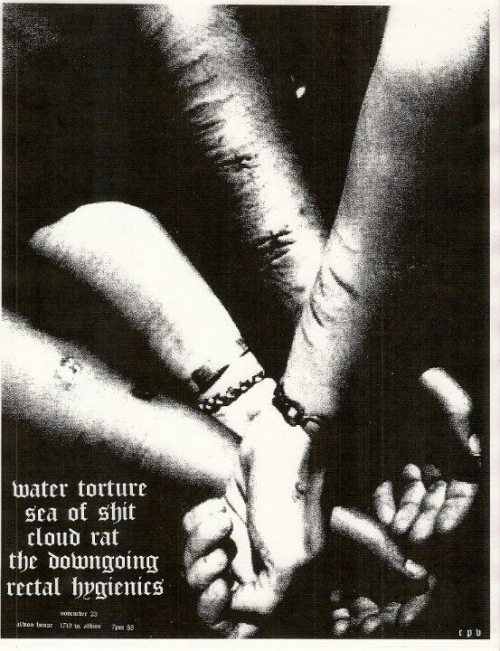 offensivegrindturd:  Water Torture/Sea Of Shit split release show.  got a good feeling about this one.