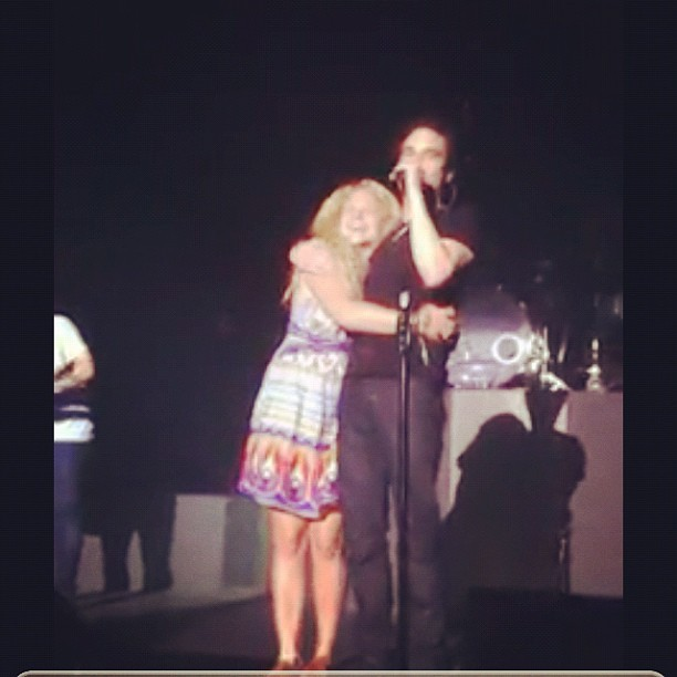 Pat introducing me to the crowd #patmonahan #train #me #hug  (Taken with Instagram)