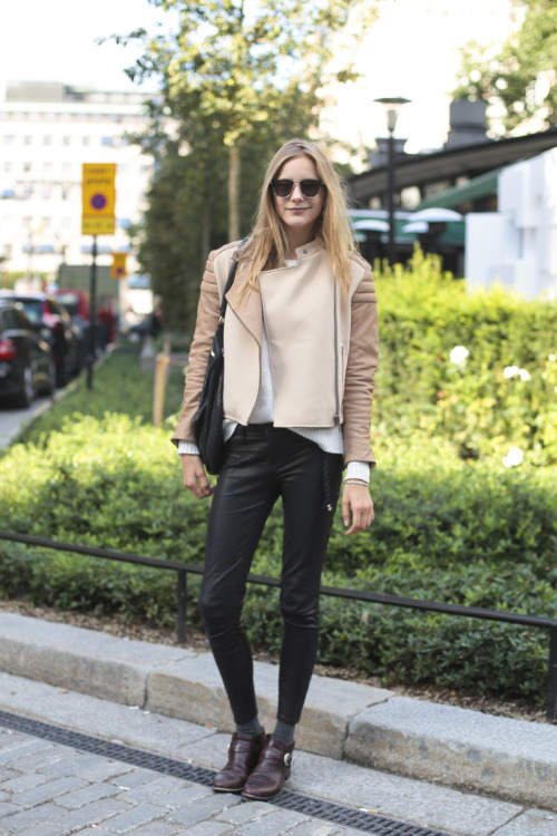 Biker-chic at Stockholm Fashion Week Photographed by Craig Arend