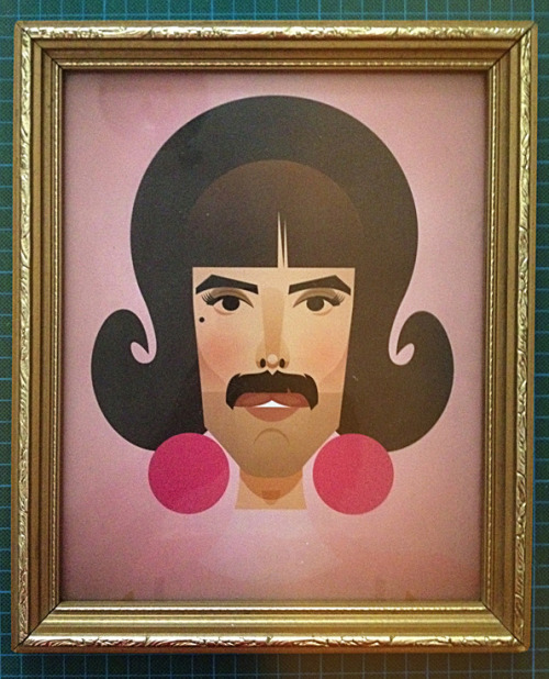 stanleychowillustration:  I want to break free! Happy 66th Birthday Freddie!!