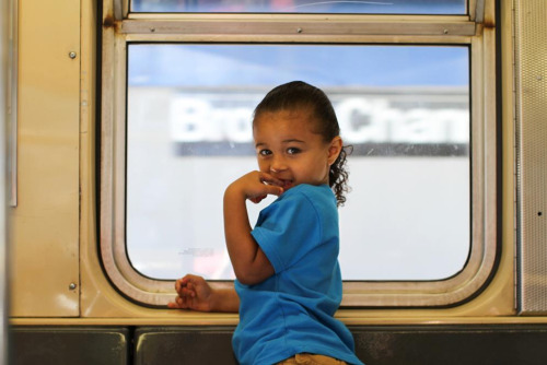 humansofnewyork:  I was reading my Kindle on the subway when a small hand suddenly appeared on its screen.