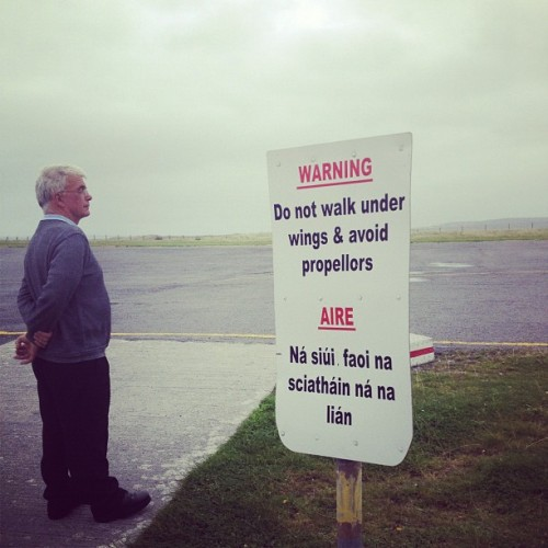 avoid propellers. (Taken with Instagram at Inis Mhór)