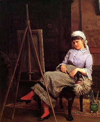 Edgar Melville Ward (American, 1839-1915) Resting 1883-4. (via 19th-century American Women)