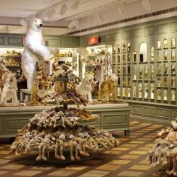 gender-neutral toy department at harrods where everything is organized by theme instead of gender.