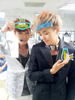 tasty2winsworld:  120828 Tasty @ MBC Show Champion