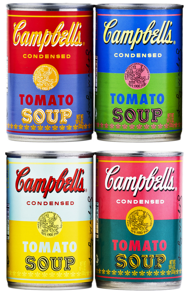 Campbell's Releases Soup Cans Featuring Andy Warhol's Pop Art