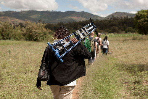 Sales representatives walk to rural farms in Kenya, demonstrating and selling irrigation pumps that will help farmers improve their crop yield and increase their income. Learn more at www.theadventureproject.org.