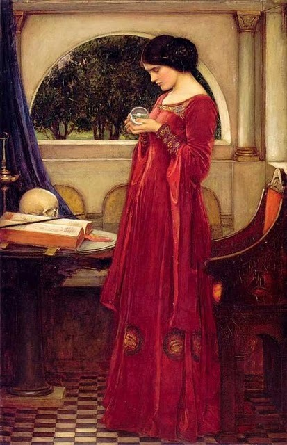 atelier-des-ateliers: 1902 John William Waterhouse (English Pre-Raphaelite, 1849-1917) ~ The Crystal Ball