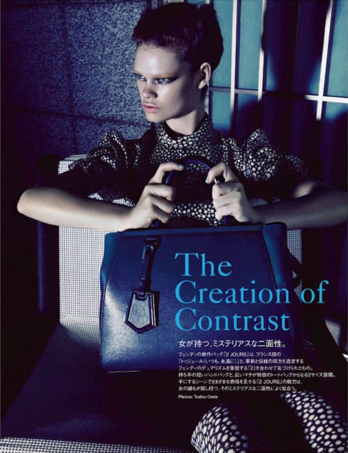 Kelly Mittendorf graces Vogue Japan October issue, lensed by Toshio Onda and styled by Rena Semba.      Original Article