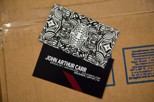 "Another great looking Business Card, this time from NY based graphic designer John Arthur Carr.  Product: Business Cards Stock: 12pt. Gloss Card Stock Size: 3.5 x 2"" Inks: Full Color"