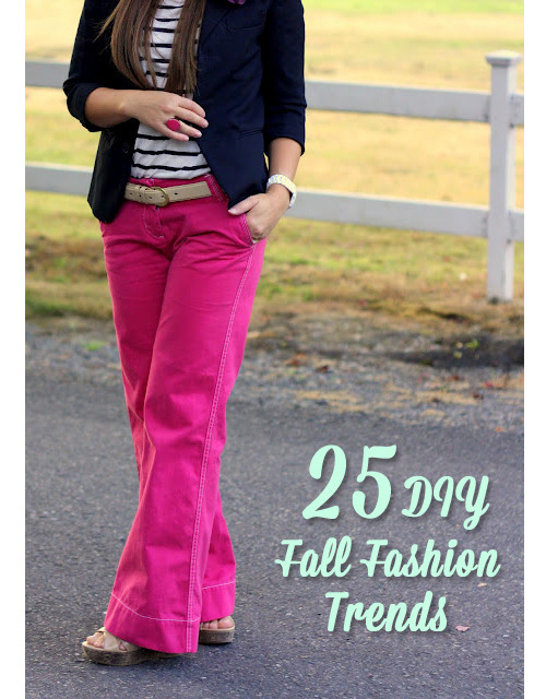 kraftykristin:  25 DIY fall clothing trends! Get yourself ready for the cooler weather! (via 25 DIY Fall Clothing Trends | The New Home Ec)