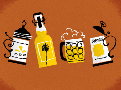 via Dribbble - Beer by Anna Hurley YES PLEASE.