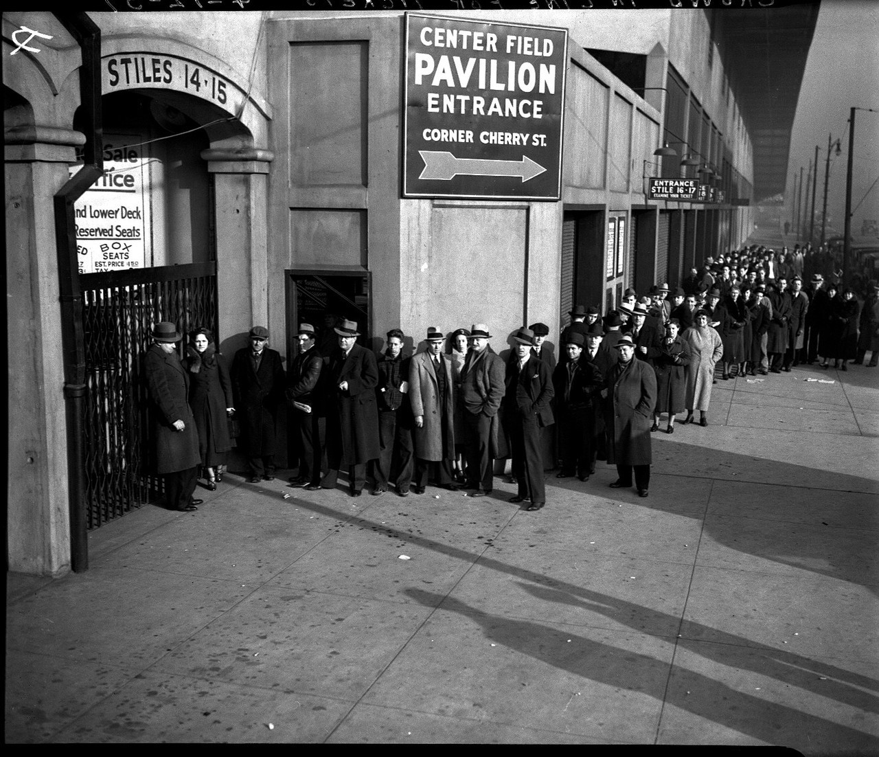 1937.  Crowd in Line for Tickets at Navin Field