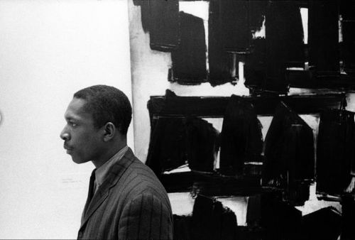John Coltrane at the Guggenheim Museum, New York City, 1960 (photo by William Claxton)
