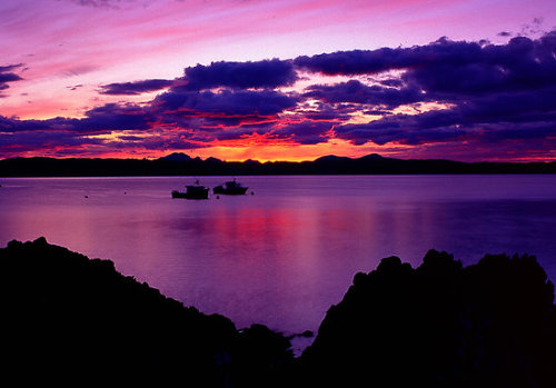 """Resting boats at Sunset, Isle of Skye"" by Kevin Allan"