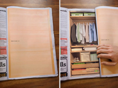 Ikea: Sliding Wardrobe Magazine Advertising