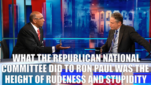 Jon Stewart's interview with former RNC chairman Michael Steele ran long last night, but you can watch the full, extended chat exclusively online today. Click the image for part one and here for part two. And don't miss The Daily Show's continuing coverage of the GOP convention on a special Friday edition of the show, tonight at 11/10c.