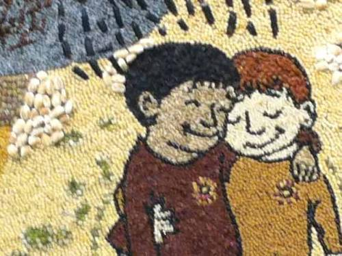 Gay Marriage Seed Art at the Minnesota State Fair