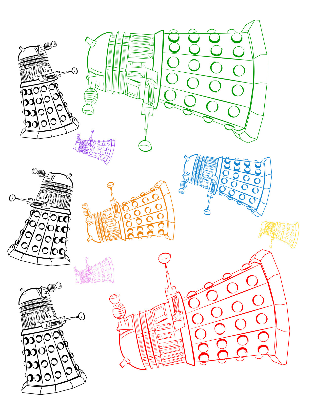 brokncookie:  My blog was lacking some Daleks…