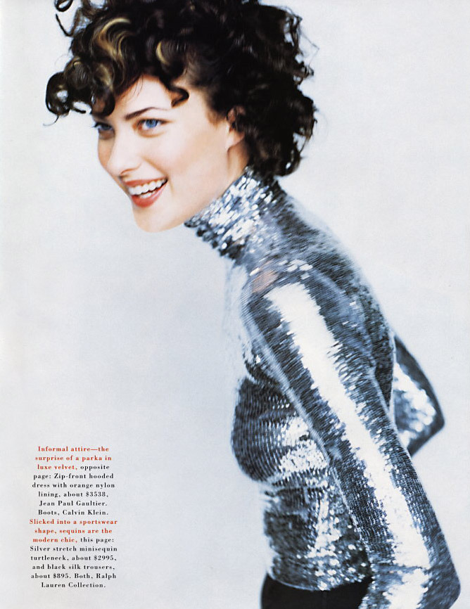 Shalom Harlow Photographed by Mario Testino for US Harper Bazaar September 1995