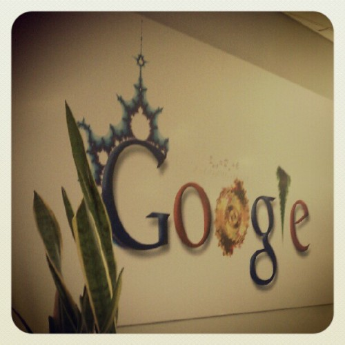 08312012 Early Morning Field Trip to #Google #NewYork Office :) // #Fractals! // #NYC #Logo #Awesome #Mathw (Taken with Instagram at Google New York)