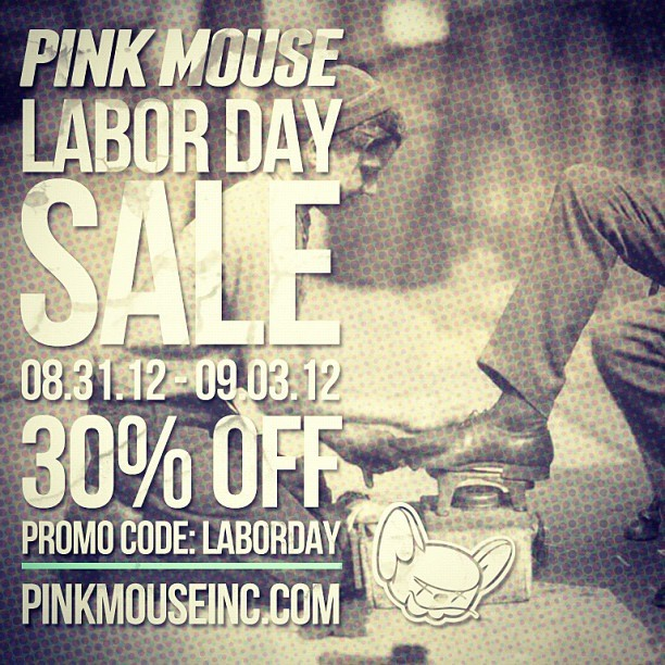 PINK MOUSE Labor Day Sale | 30% Off Everything in our online store - Use Promo Code: Laborday at checkout. #streetwear #fashion #tshirts #tanks #tops #hats #fittedhats #skate #skateboarding #kids #womens #pinkmouse #sale #swag www.pinkmouseinc.com (Taken with Instagram)