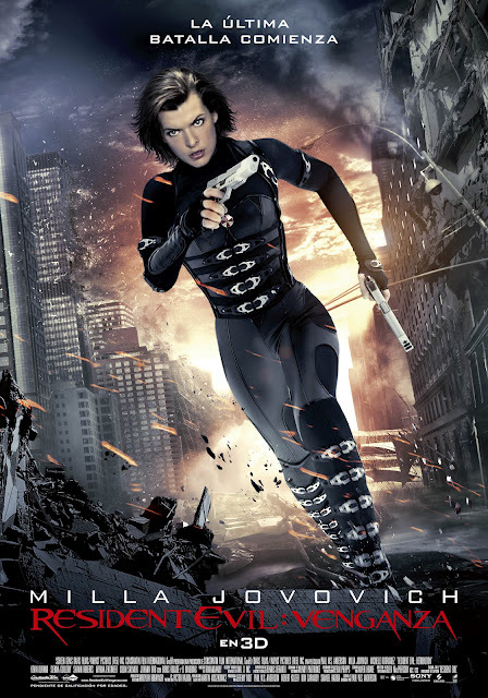 "RESIDENT EVIL: RETRIBUTION (Spain) Director: Paul W.S. Anderson Writer: Paul W.S. Anderson Stars: Milla Jovovich, Sienna Guillory and Michelle Rodriguez Synopsis:  The wildly successful film franchise adaptation that has grossed nearly $700 million worldwide to the popular video game series, ""Resident Evil,"" returns in its highly anticipated fifth installment, ""Re5ident Evil: Retribution"" in state-of-the art 3D. The Umbrella Corporation's deadly T-virus continues to ravage the Earth, transforming the global population into legions of the flesh eating Undead. The human race's last and only hope, Alice (Milla Jovovich), awakens in the heart of Umbrella's most clandestine operations facility and unveils more of her mysterious past as she delves further into the complex. Without a safe haven, Alice continues to hunt those responsible for the outbreak; a chase that takes her from Tokyo to New York, Washington, D.C. and Moscow, culminating in a mind-blowing revelation that will force her to rethink everything that she once thought to be true. Aided by newfound allies and familiar friends, Alice must fight to survive long enough to escape a hostile world on the brink of oblivion. The countdown has begun."