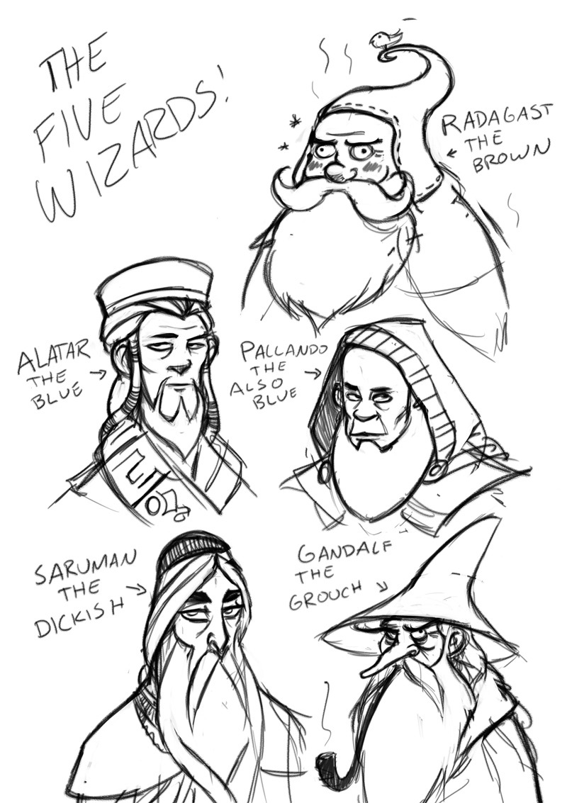 indistinguishable from magic the five wizards of middle earth