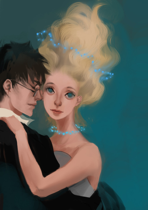 Harry and Luna by merychess