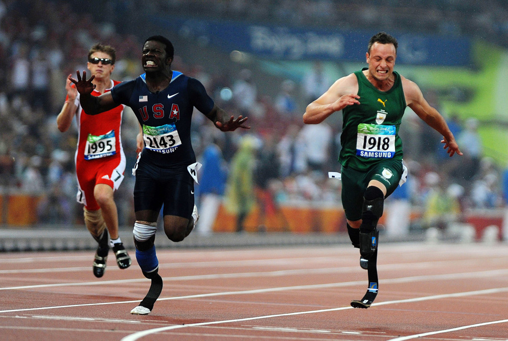 "nationalpostsports:  Paralympics 100-metre final 'going to be epic,' Jerome Singleton saysSingle amputee Jerome Singleton studied physics so he could learn how to master the use of his prosthetic leg, having been born without a fibula.It was never a hindrance to the 26-year-old, who was, at one stage, in the top 100 American college football prospects, and is now among the quickest Paralympic sprinters on the planet.Silver medallist in the 100 metres four years ago, this time around he will do battle against holder Oscar Pistorius, world record pacesetter Jonnie Peacock of Britain, compatriot Blake Leeper and Arnu Fourie. He expects big things.""This is going to be some of the best amputee sprinting you've ever seen. Period."" (Getty Images)"