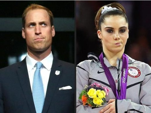 "Prince William… is NOT impressed! At least it looks like Prince William was photographed with a similar facial expression as McKayla Maroney's ""NOT impressed"" look. However, we have no idea why Prince William made the face…"