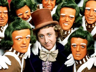 Fri 8/31  Willy Wonka and the Chocolate Factory in the Park!!  FREE Dawson Park Pre-movie entertainment 6:30pm; movie at dusk  Now who says the original Willy Wonka movie isn't creepy enough? I mean just look at those orange men with their broccoli hair and how they surround Gene Wilder with their white gloved hands. To be fair, it is Gene Wilder. You'd try to get on a hand on him if you were that close. Any case, we all know this movie. We all love it. Go watch it in the park!!   return home