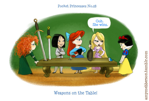 amymebberson:  Pocket Princesses 28: Weapons on the Table! Pocket Princesses Facebook Page! Reblog, don't repost.