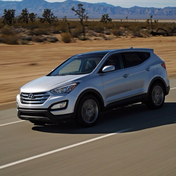 Hyundai's product assault has been incessant over the past few years. In rolling out the new third-generation 2013 Hyundai Santa Fe, the company completes a product overhaul as comprehensive and logistically complex as the recent Mars rover landing. The launch of Hyundai's new midsize tall wagon-cum-CUV is, appropriately, no less convoluted. After all, this compact SUV will serve double duty in the automaker's lineup, poised to do battle with roughly a dozen competitors. #edmundsinc #hyundai #santafe #suv #turbo  (Taken with Instagram)