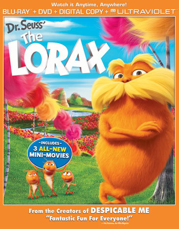 A Customer Review of 'The Lorax' by Shawn L. The Lorax is a heart-warming movie about Ted's adventure in getting a tree for the girl he has a crush on named Audrey.  He gets a Truffula tree seed from the Once-ler after he tells of how he chopped down all the trees and the Lorax who warned him not to. The Lorax leaves when the last tree is gone. O'Hare is a man who now sells air to the town, and does not want the seed planted because trees make air for free.  O'Hare tries to stop Ted from planting the seed because he would not be able to make any more money selling air… [My] family really enjoyed this film and went and saw it three times.  The film is beautifully animated and the voice acting is great.  The movie expands on the book that is beloved by many people in a good way.  I would recommend this film to any Dr. Seuss fan and anyone that is young at heart.  (Shawn won a DVD copy of the movie and a $5 Family Video gift card for his movie review. Want in? Like our Facebook page and check out our Movie Review contest!) -  Get it today at Family Video!