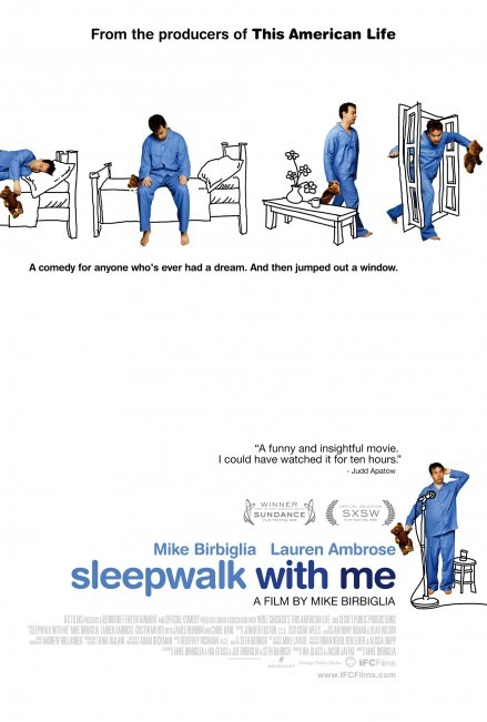 Tonight we are going to see Sleepwalk With Me, the first independent film produced by This American Life's Ira Glass, starring comedian and storyteller Mike Birbiglia. If you haven't heard about it already, check out the trailer HERE.  Leading up to the premiere of the film in NYC a couple weeks ago Glass and Birbiglia have been using social media in fun ways to get the word out about the film beyond the TAL fan base, and on a budget of about $0. Fans of the film (and supporting independent productions), like Joss Whedon (director of this summer's blockbuster smash hit The Avengers), have helped spread the word to their fan base by establishing a fake rivalry between then which garnered 170k+ views on YouTube. The way they've spread the word about Sleepwalk With Me, a small movie on a tight budget with a 'quirky' premise, is inspiring. The idea that you can rely on your friends to support you, then tell their friend's friends and so on and so forth, is simple and yet amazingly effective in this age of social media. They've also been taking the grassroots marketing approach and showing up to screenings which add a bit of celebrity cache to the typical movie going experience. While I hear Glass is rather odd and perhaps not the ideal person for a meet-and-greet with one set of movie-goers after another, Birbiglia is an affable guy who is on the road most of the year and seems unphased when people ask him to sign their desktop computers and other random items after a show. With that in mind I kept a close eye on when the film would be opening in LA and if the guys would make an appearance here. Birbiglia is coming to the Nuart Theater to do Q&A after a number of screenings, including ours. YAY! I expect he'll be burnt out after the non-stop promotion but hopefully energized by an enthusiastic crowd in the movie capital of the world. I plan to wait around until I get a picture with him - exactly the kind of famous person I like to have a photo with, slightly obscure but very cool to the people who know of him. As for the movie, well, I haven't seen it yet so I can't comment on the content. I have heard a story or two about Birbiglia's sleep issues which are embedded in this fictionalized version of his troubles so I know the source material is solid. And I love Lauren Ambrose, who plays his girlfriend. If the other elements align the film's Audience Award at the Sundance Film Festival won't be a fluke. Now the only question is, should I wear my PJ's to the screening?
